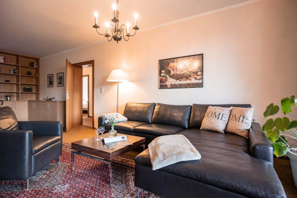 Wohnzimmer des Apartment mit 4 Schlafzimmern